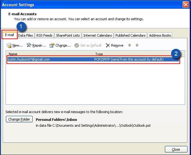 Outlook error 0x800CCC0e